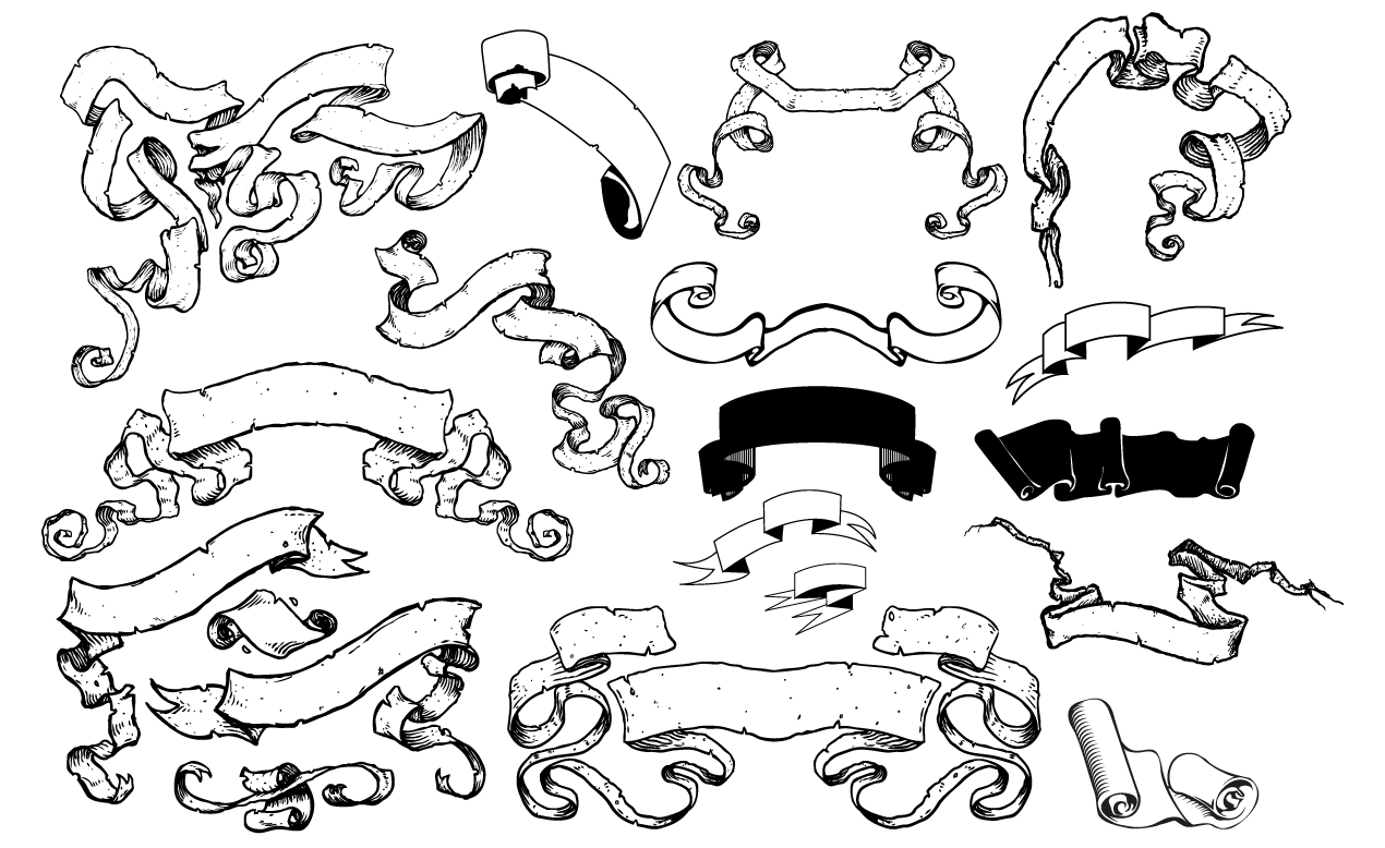 Displaying 20> Images For - Banner Scroll Tattoo Design...